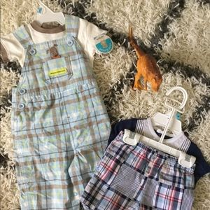 6 month baby plaid lot